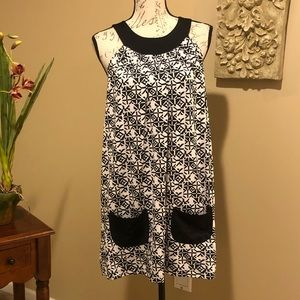 GUESS JEANS Black & White Printed Dress. Size S